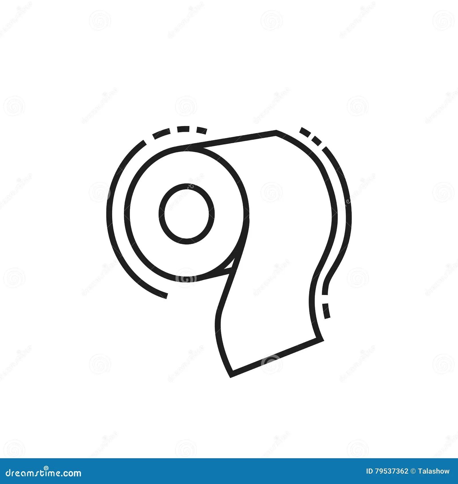 Toilet Paper Icon Stock Illustration