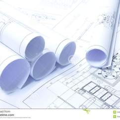 White House Diagram Hogtunes Wiring Rolled Blueprints Stock Image - Image: 34624941