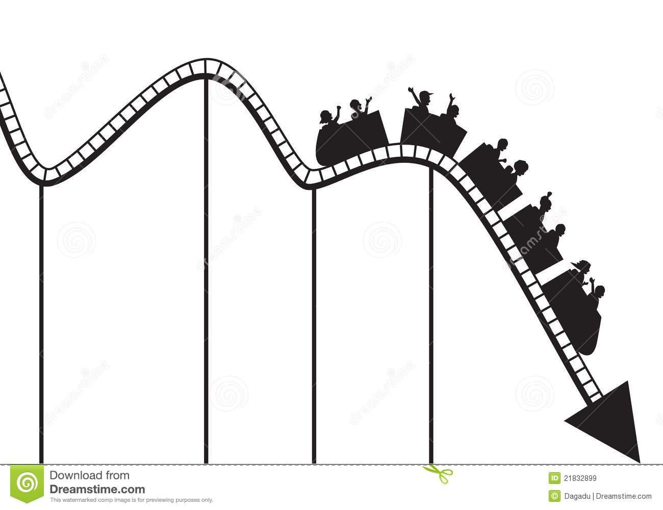 Royalty Free Stock Images Roller Coaster Graph Image