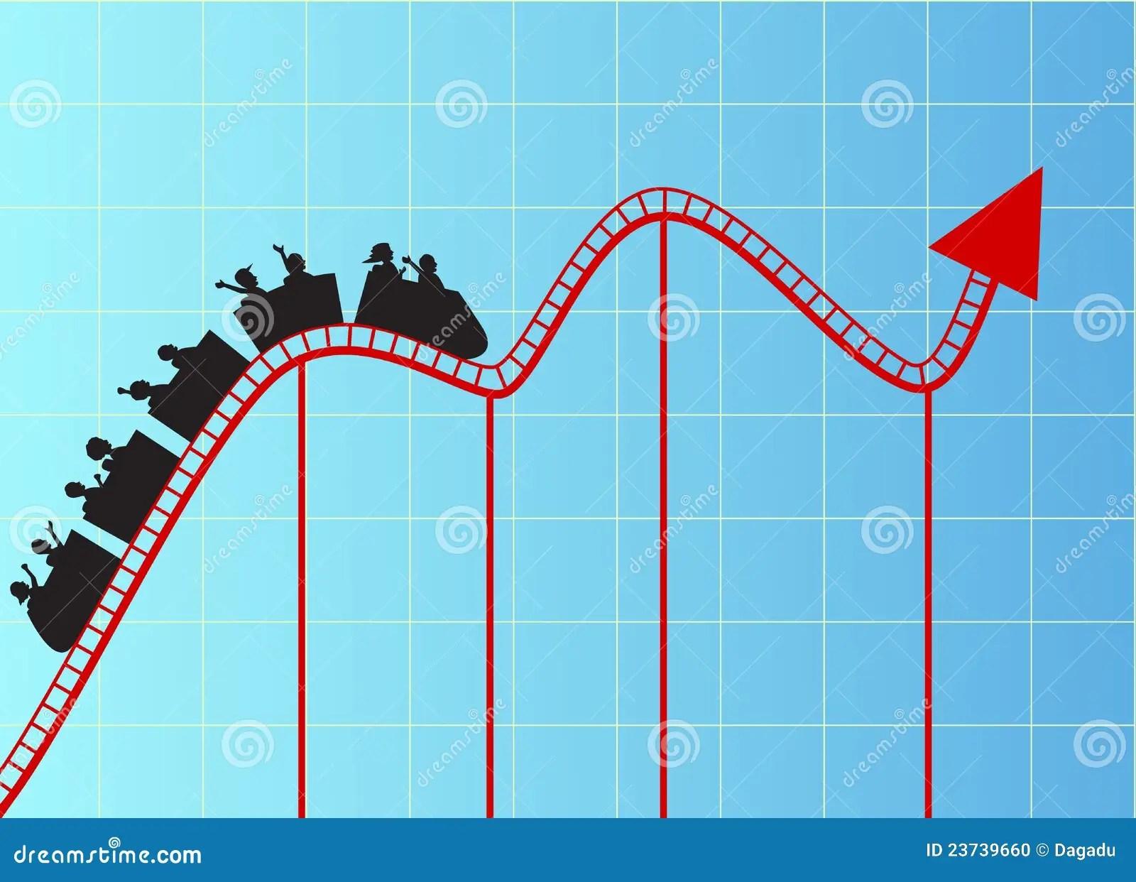 Stock Photo Roller Coaster Graph Image