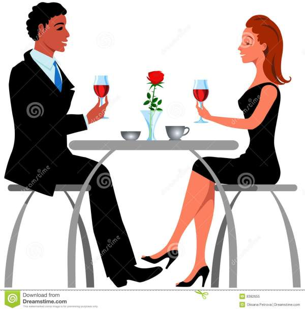 romantic dinner royalty free stock