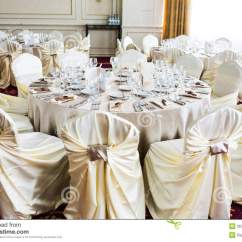 Cream Chair Covers For Weddings Bedroom Glass Romantic Wedding Setting Royalty Free Stock Photo Image