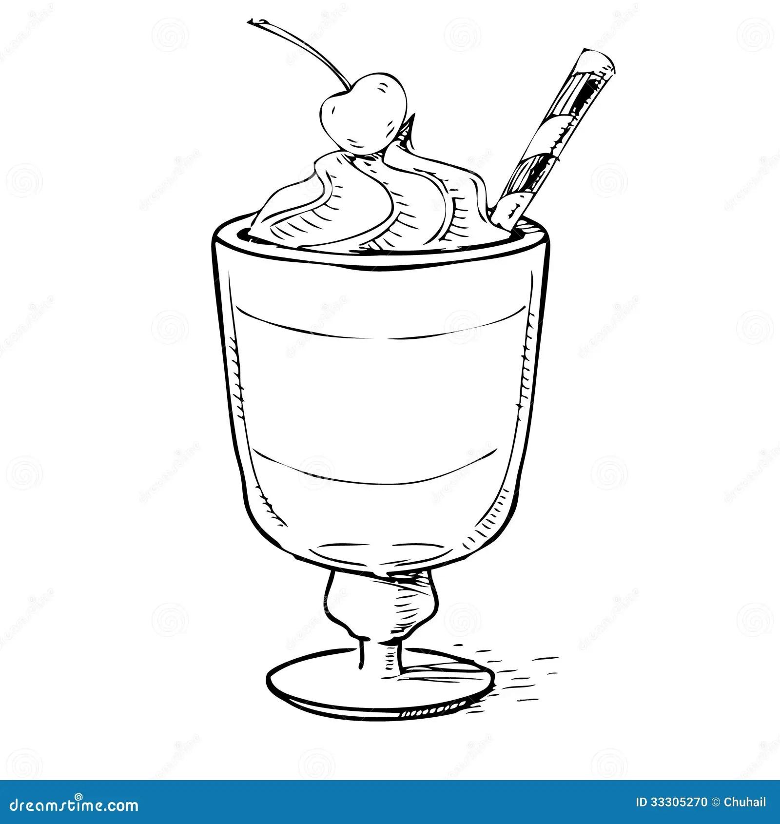 Romige Milkshake Met Kers En Schuim Stock Foto
