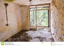 Empty Abandoned Creepy Hotel Room Royalty-free Stock