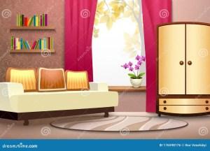 cartoon interior wardrobe