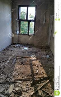 Room Interior Of Ruined Hote Stock - 70792038