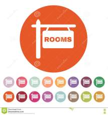 Rooms Icon. Hotel Symbol. Flat Stock Vector