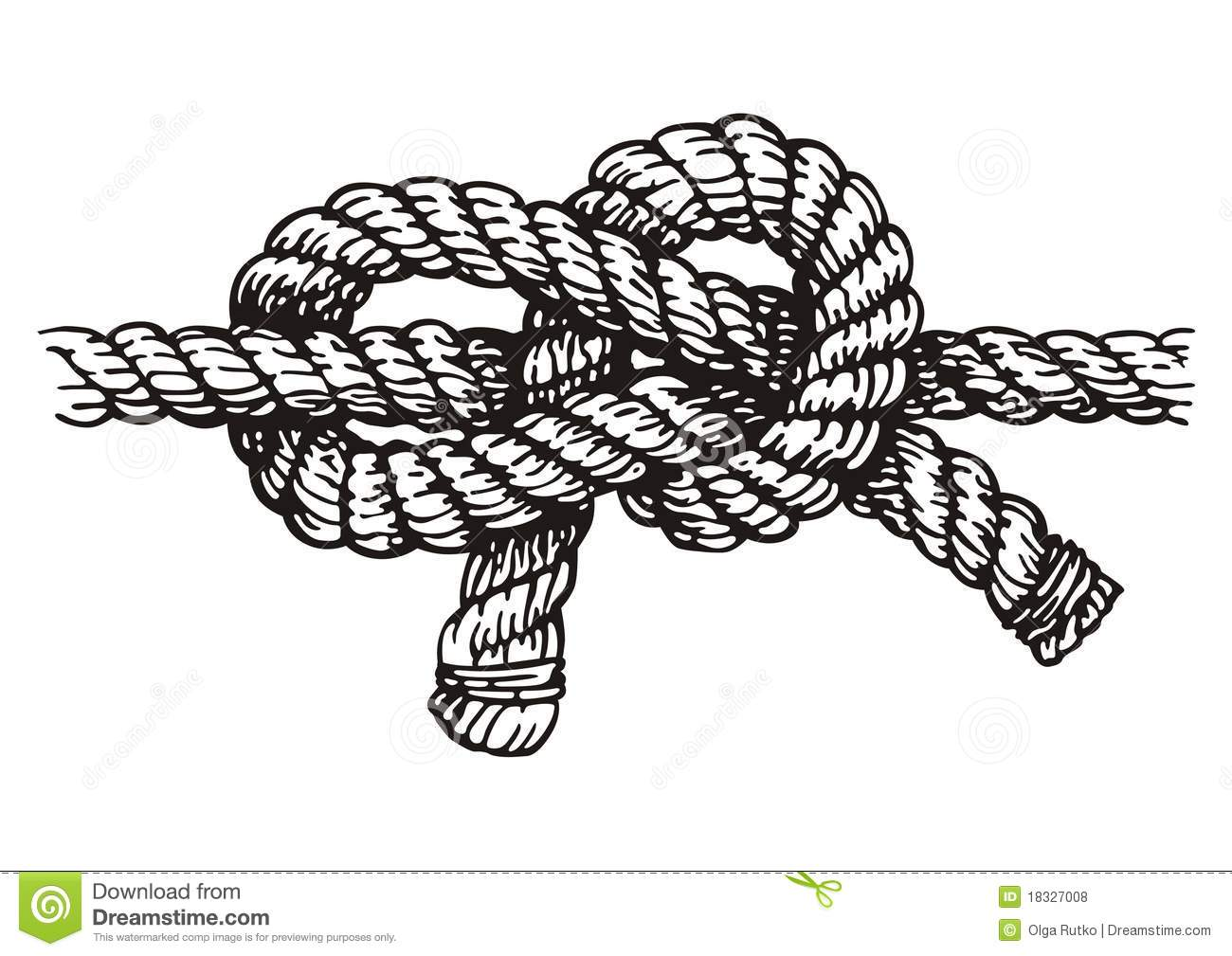 Rope Stock Vector Illustration Of Cord Black Silhouette