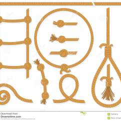 Ladder Braid Diagram 4017 And 555 Circuit Rope Elements Royalty Free Stock Images Image 13914019