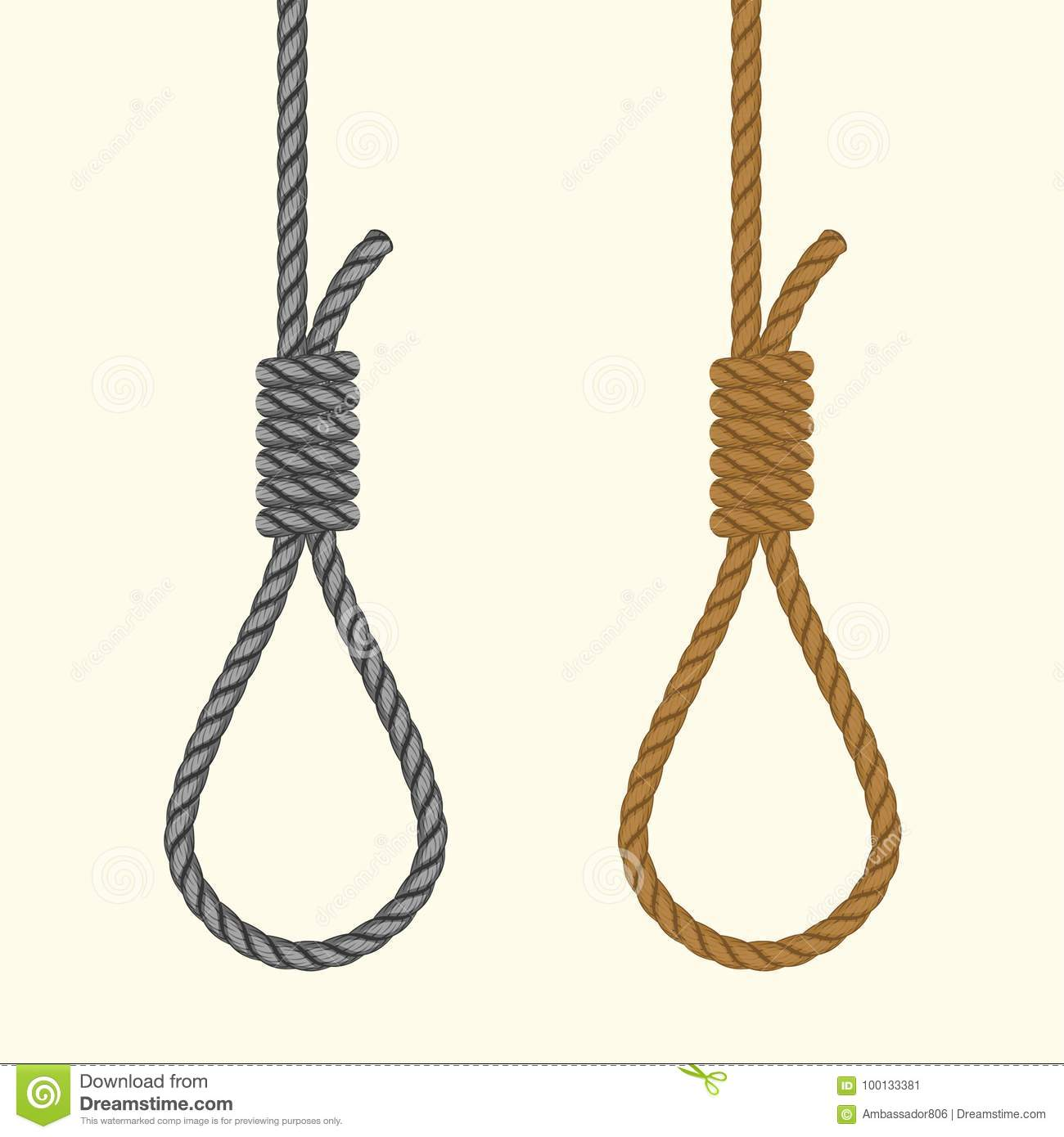 hight resolution of noose with hangmans knot suicide death penalty by hanging