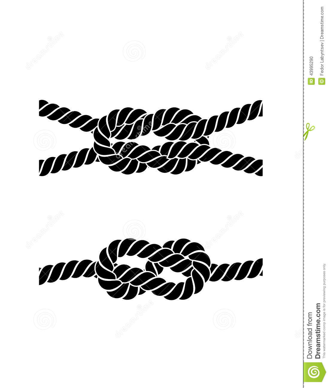 Rope Knot On A White Background Stock Vector