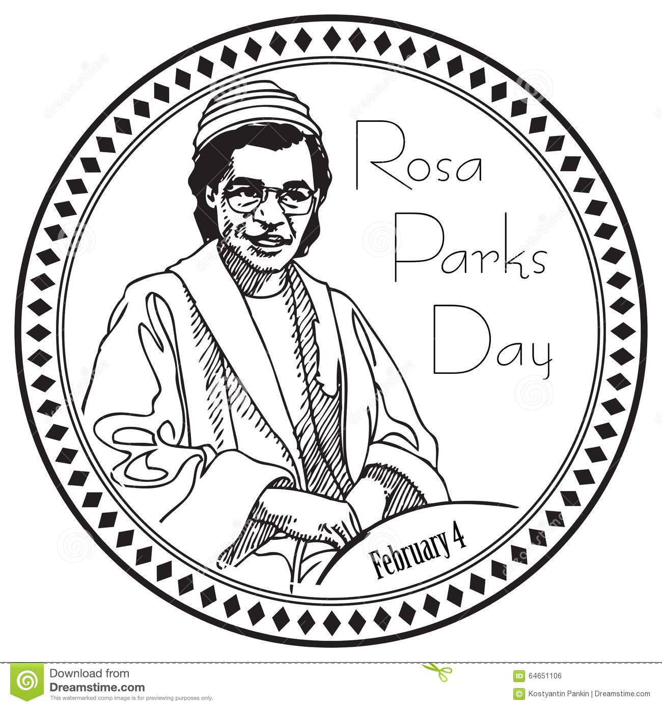 Rosa Parks Day Stock Vector Illustration Of Event