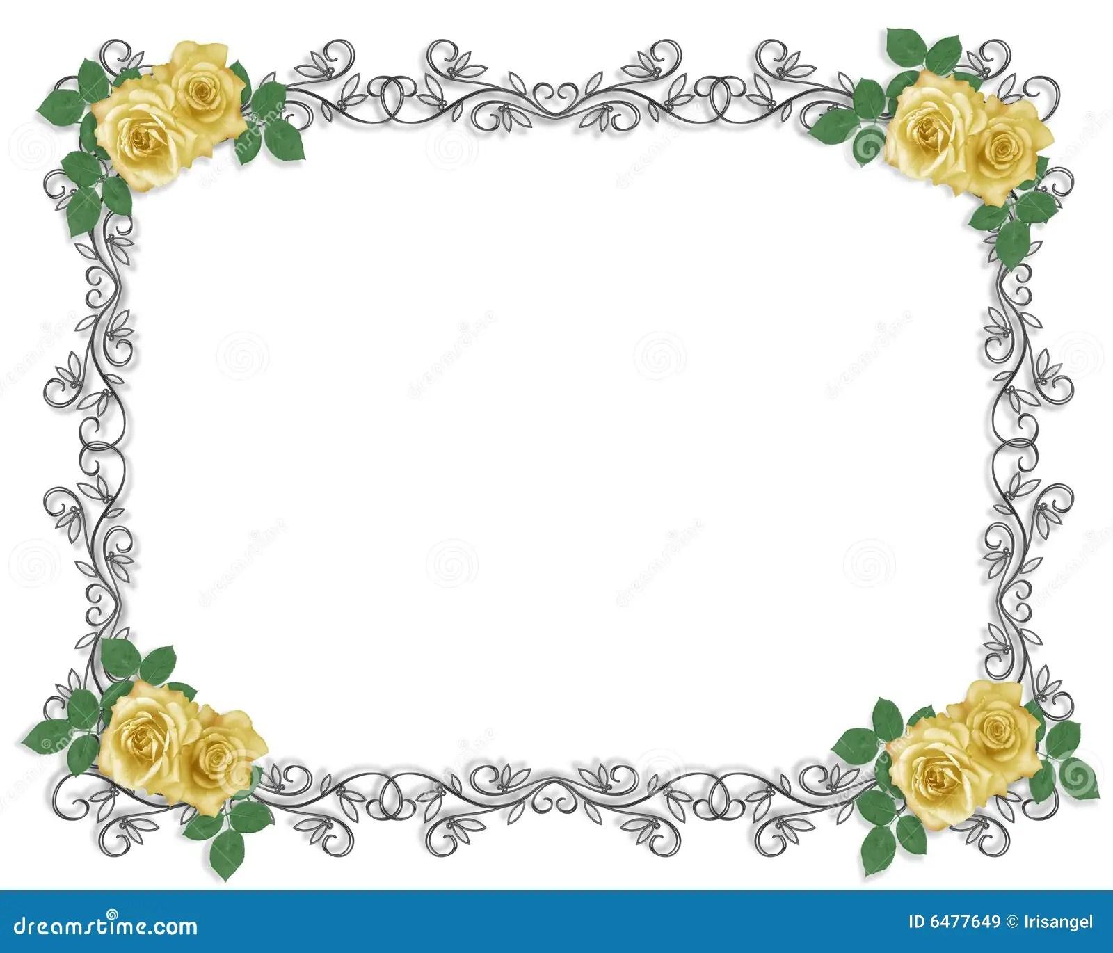 Rosas Amarelas Que Wedding Ou Convite Do Partido Imagens