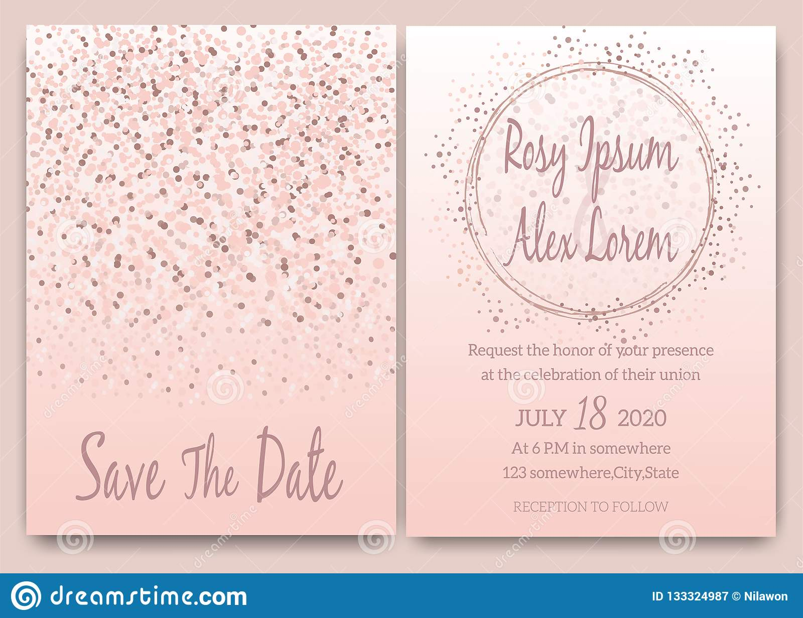 https www dreamstime com rose gold glitter pink wedding card invitation rose gold glitter pink wedding card invitation image133324987