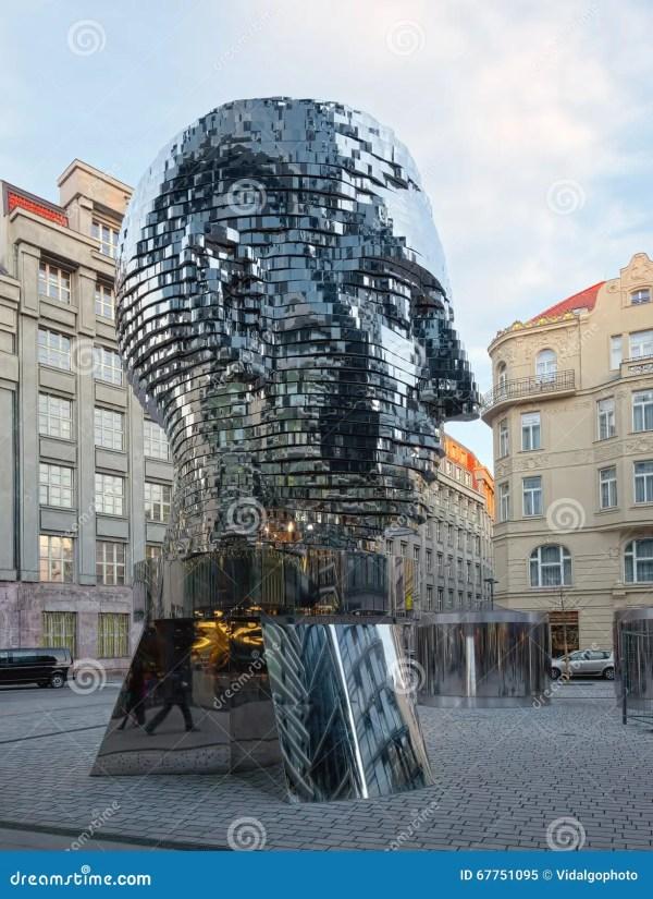 Rotating Monument Of Kafka Prague Czech Republic