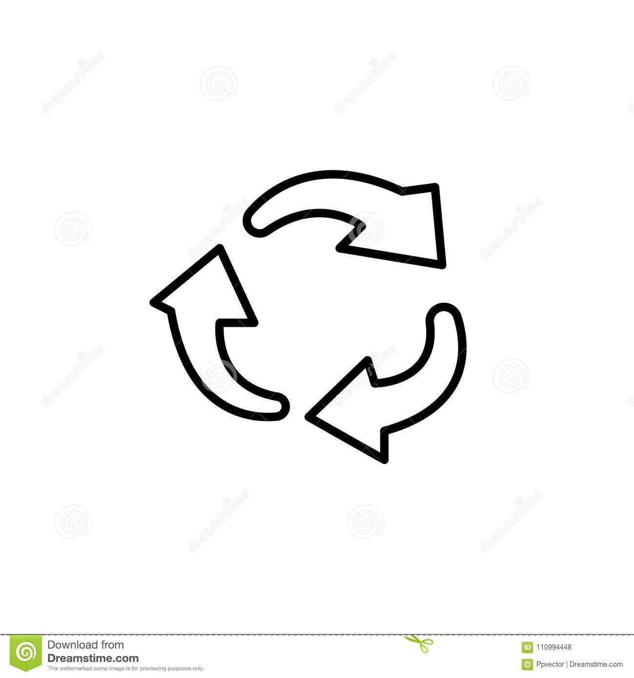 Rotation Arrows In A Circle Stock Illustration