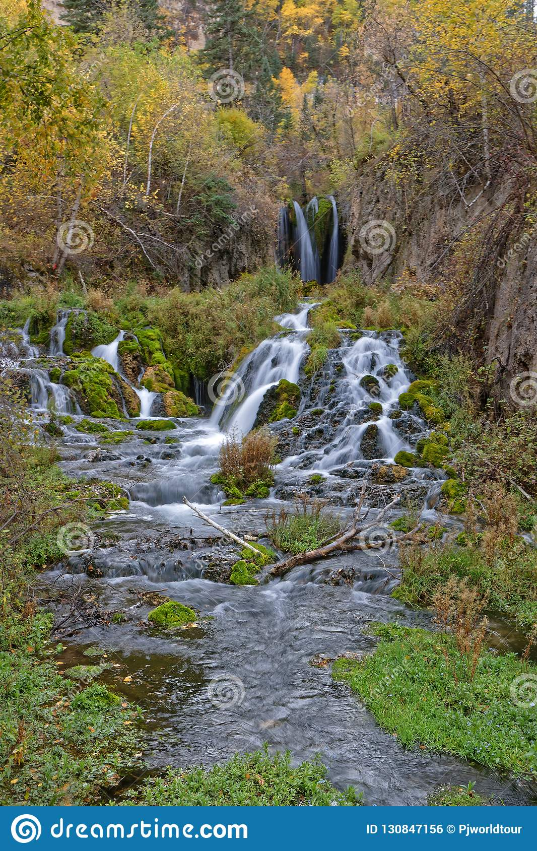 Spearfish Falls Of The Black Hills Stock Photography