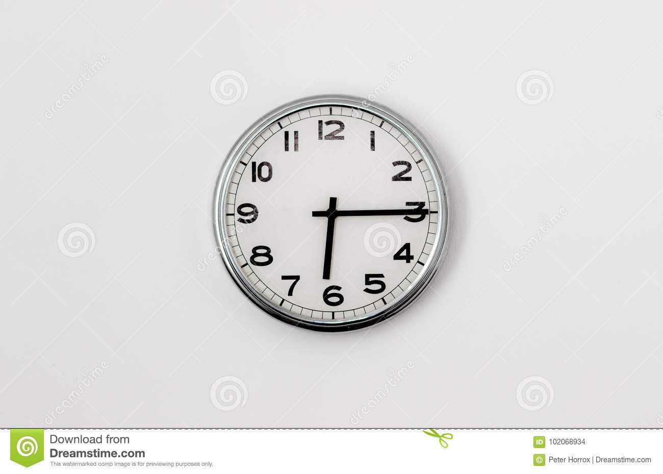 Clock 6 15 Stock Photo Image Of Object Measurement