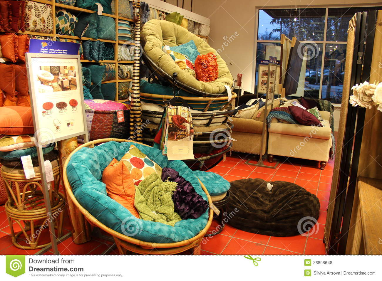 Comfortable Chair Store Round Comfortable Chairs Editorial Stock Photo Image