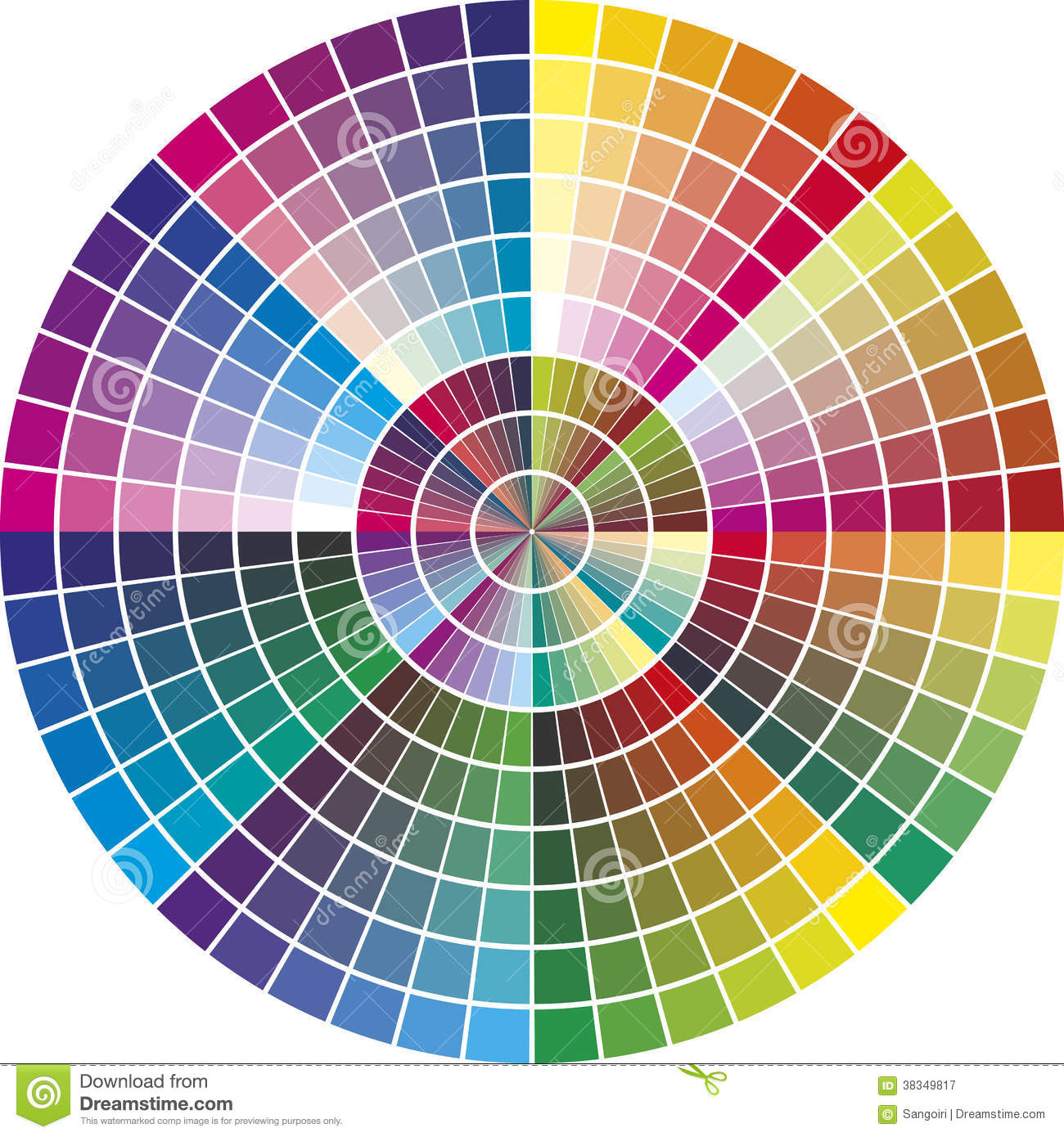 Round Vector Color Chart Stock Vector Illustration Of