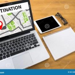 7 Way Navigation Autopage Wiring Diagram Route City Map Destination Gps Stock