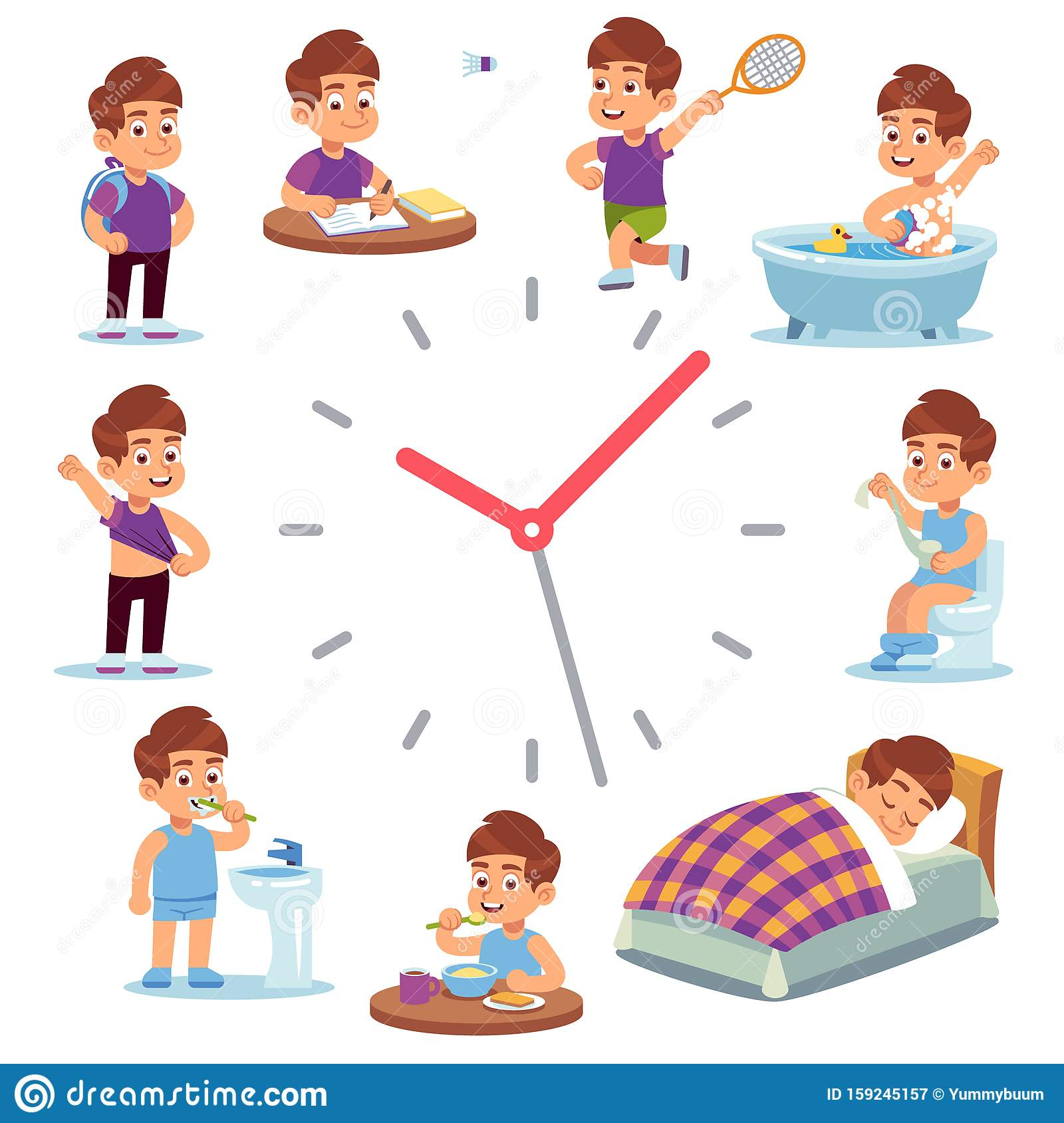 Daily Routine Clocks Daily Routine Clocks Schedule Of