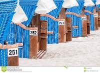 A Row Of Beach Chairs Stock Photo - Image: 54494768