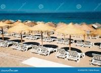 Row Beach-chairs The Mediterranean Sea Stock Photo - Image ...