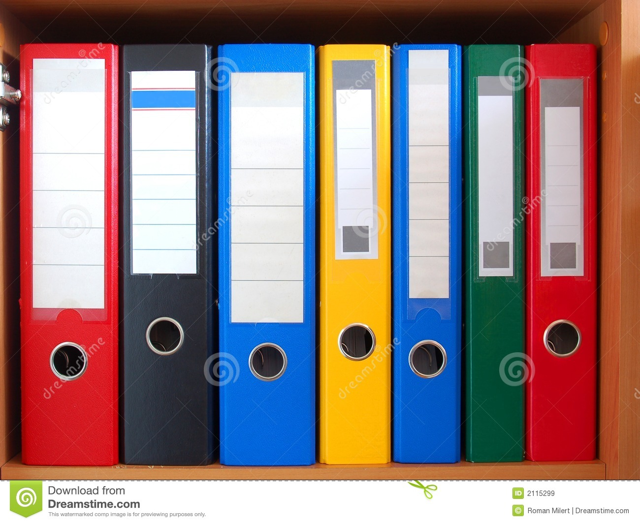 Row Of Binders Royalty Free Stock Images  Image 2115299