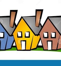 row of houses clip art house [ 1300 x 812 Pixel ]
