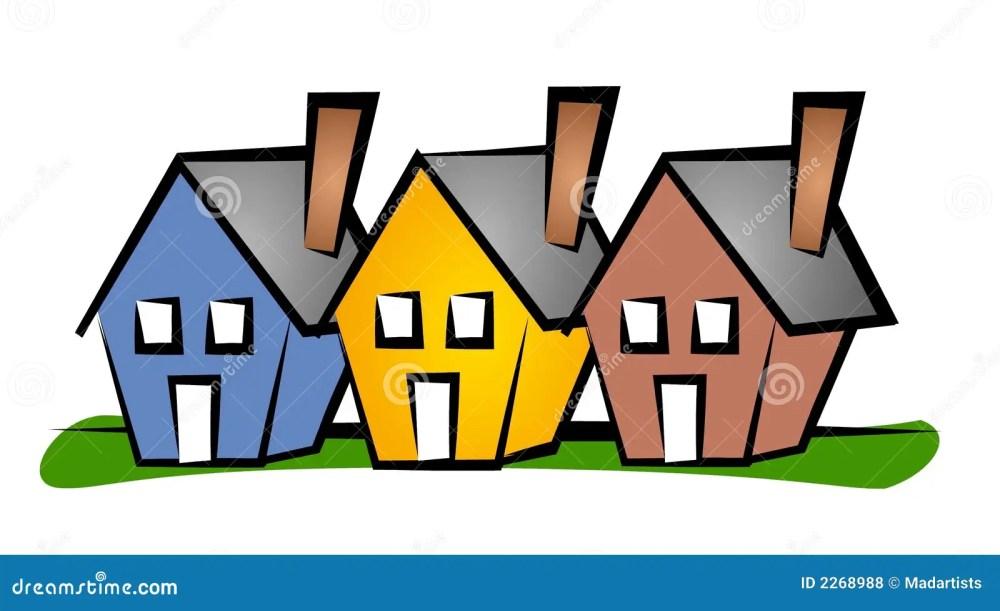 medium resolution of row of houses clip art house