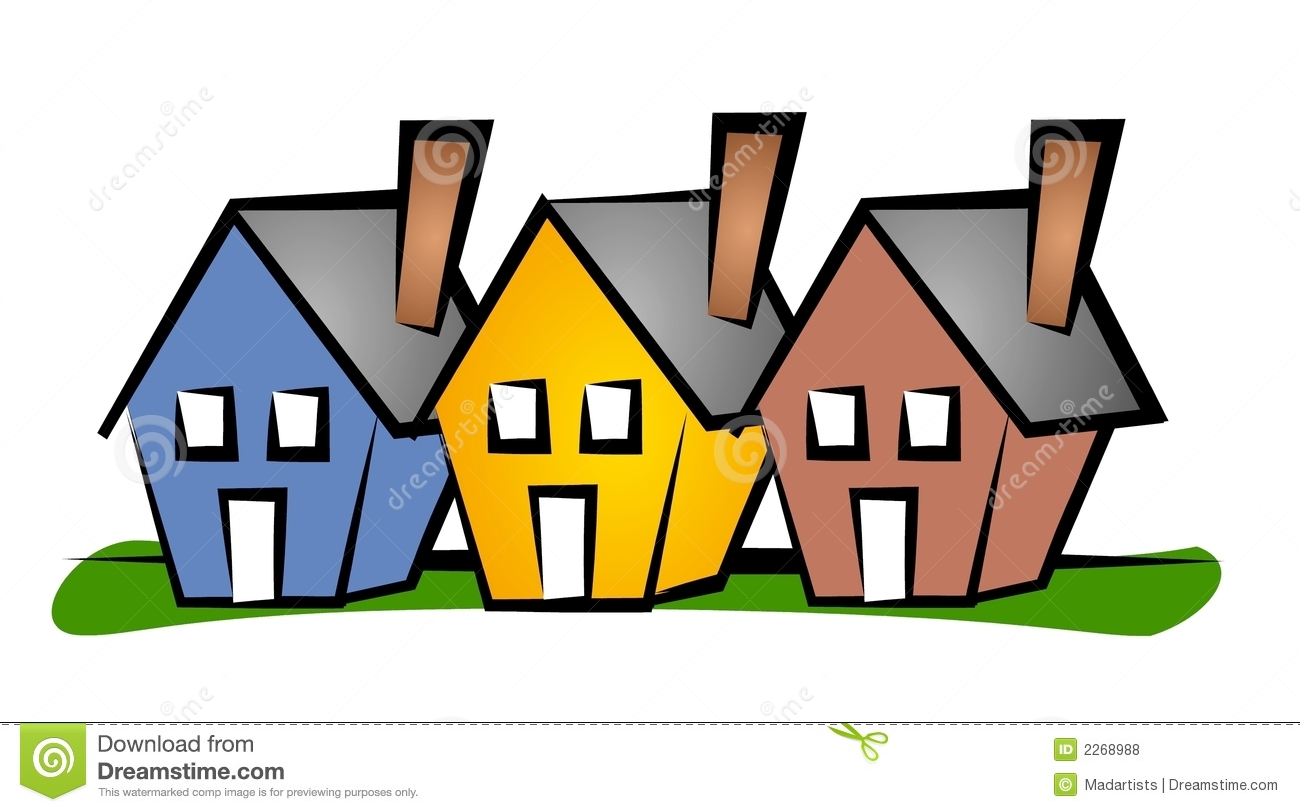 hight resolution of row of houses clip art house