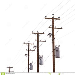 Telephone Pole Diagram Family Tree Template Row Of Power Transformers Isolated On White Stock