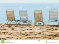 A Row Of Three Beach Chairs Royalty Free Stock Image ...