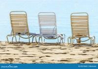 A Row Of Three Beach Chairs Stock Photos - Image: 32979693