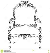 Royal Baroque Vector Classic Chair Furniture Stock Vector ...