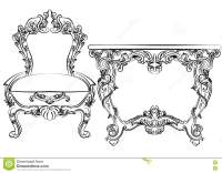 Royal Baroque Vector Classic Furniture Set Chair And Table ...