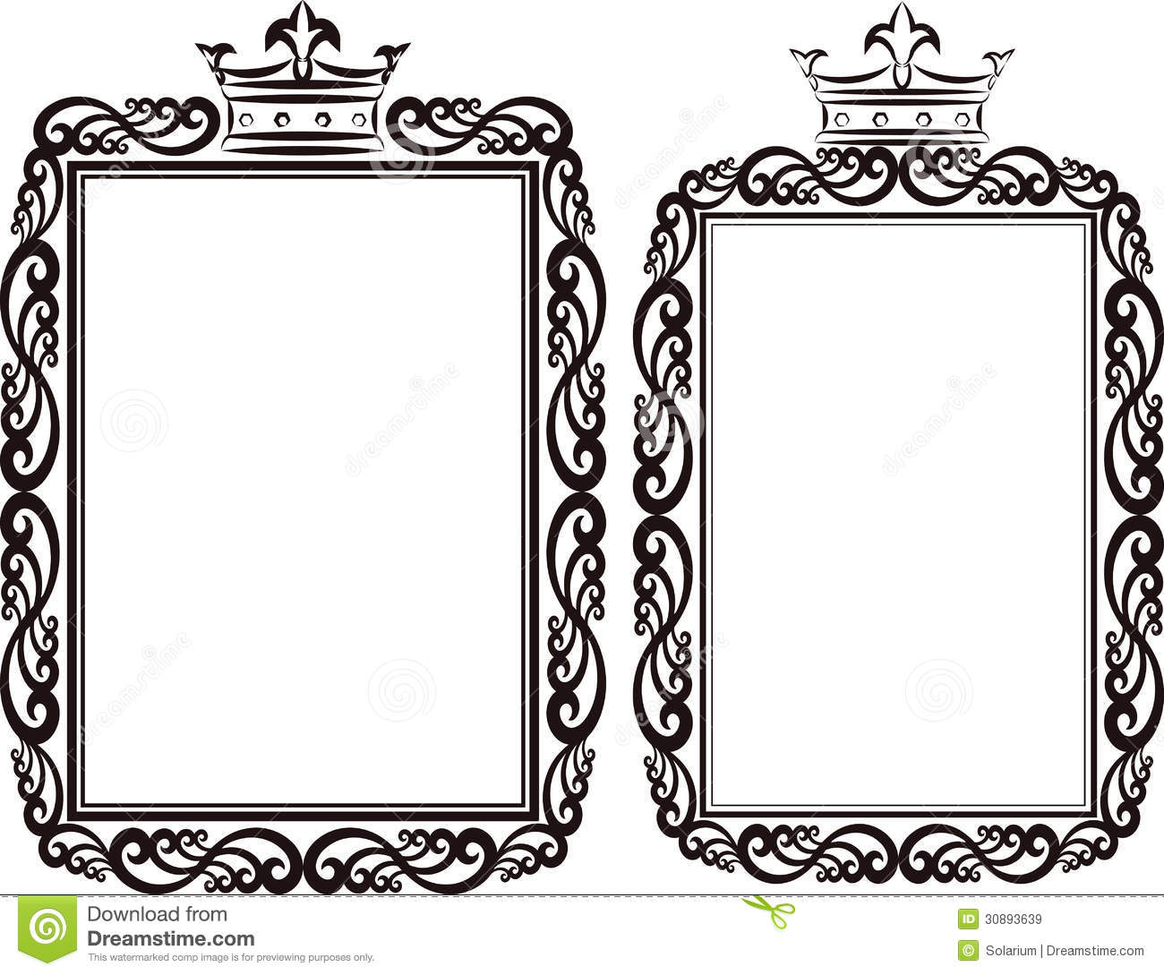 Royal border stock vector. Image of contour, crowns