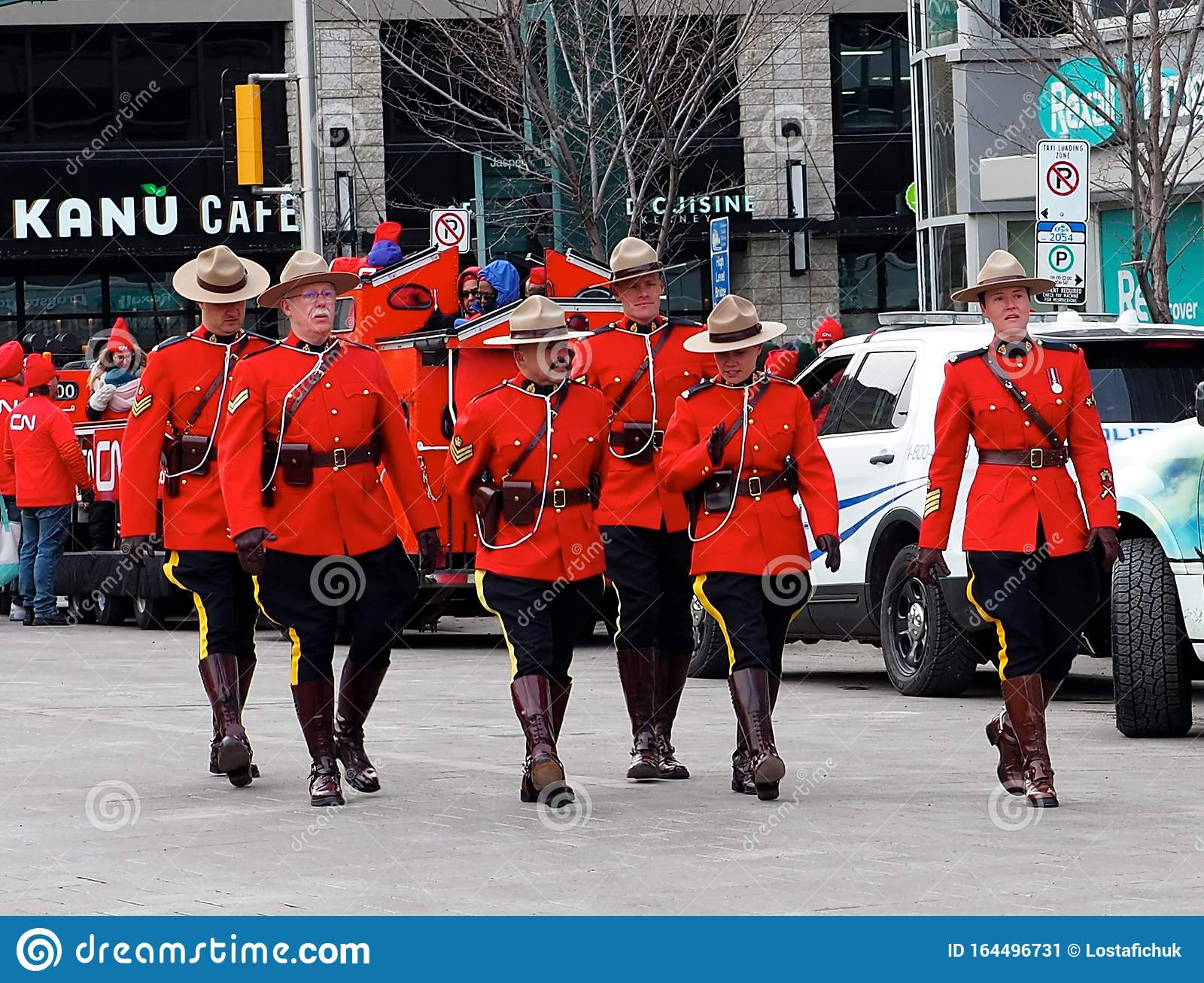 Royal Canadian Mounted Police In Grey Cup Parade