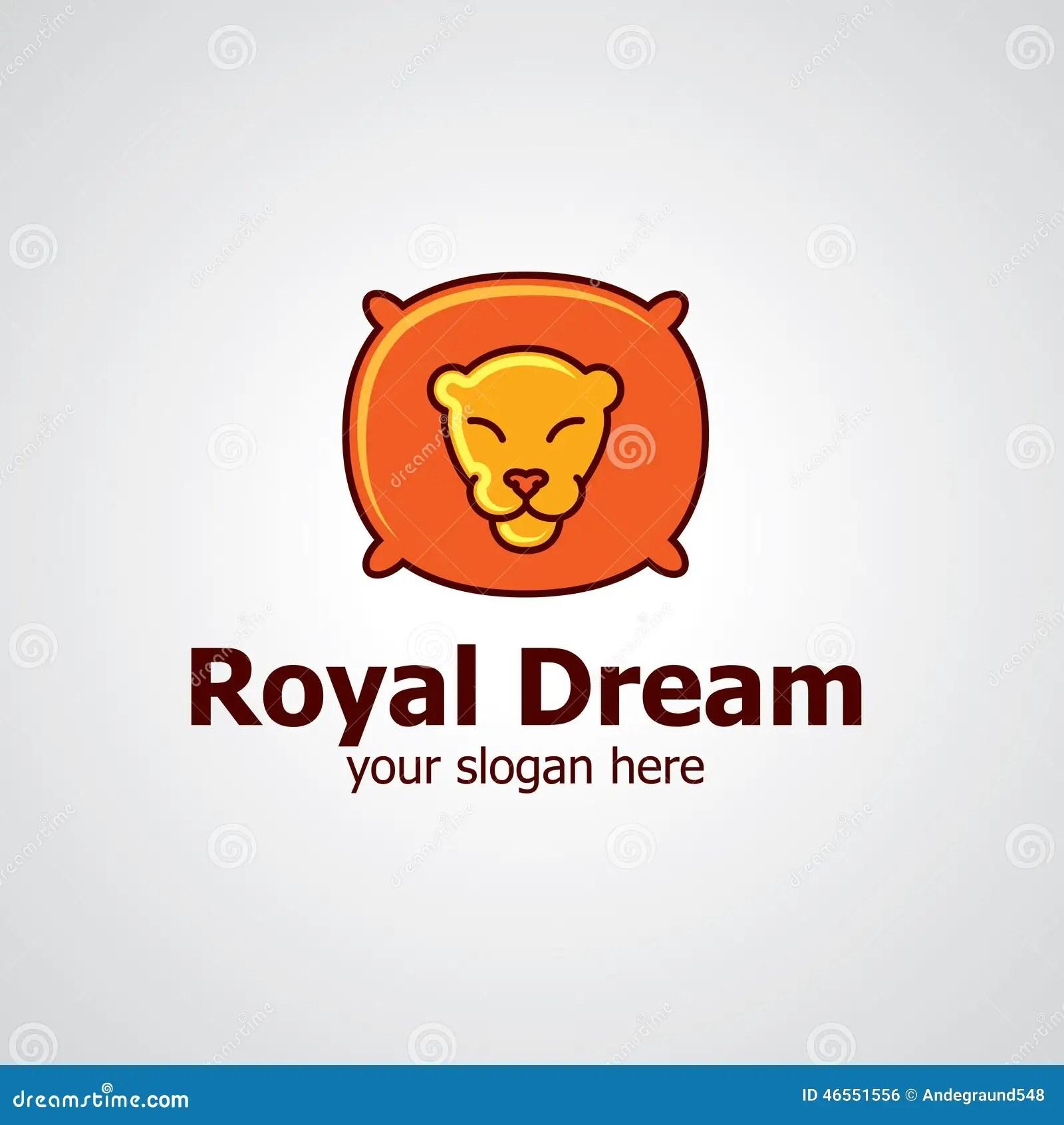 royal dream vector logo design stock vector illustration of royal textile 46551556