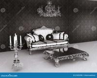 Royal Furniture In Baroque Interior. Sofa Royalty Free ...