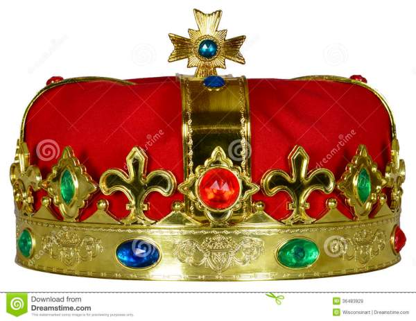 Royal King Queen Crown With Jewels Isolated Royalty