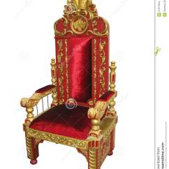 How To Make A Queen Throne Chair Covers For Sale Royal King Red And Golden Isolated Stock