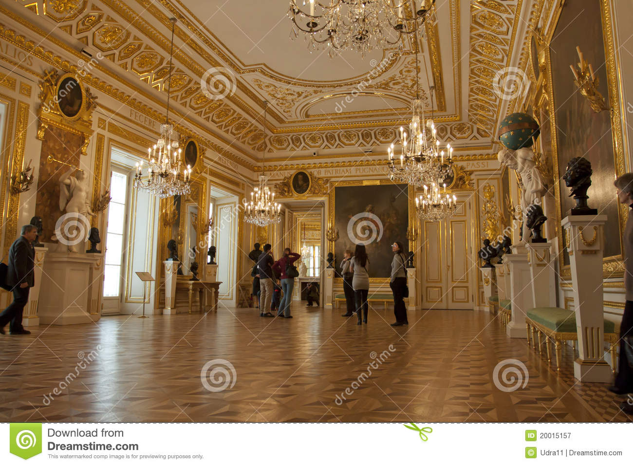Royal Palace In Warsaw Inside Editorial Photography