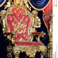 Black Velvet Throne Chair Portable Makeup With Headrest Royal Stock Photo - Image: 15068740