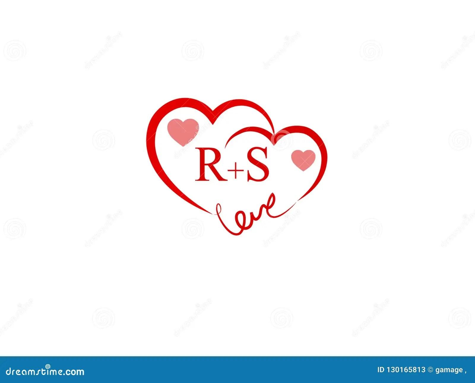 rs initial heart shape