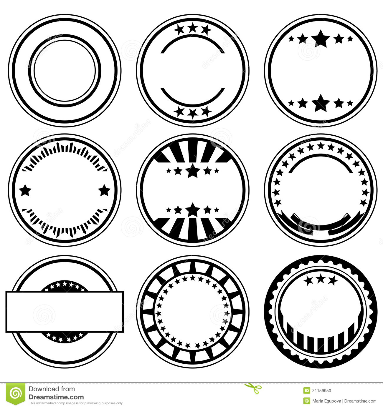 Rubber Stamps Stock Vector Illustration Of Sign Circle