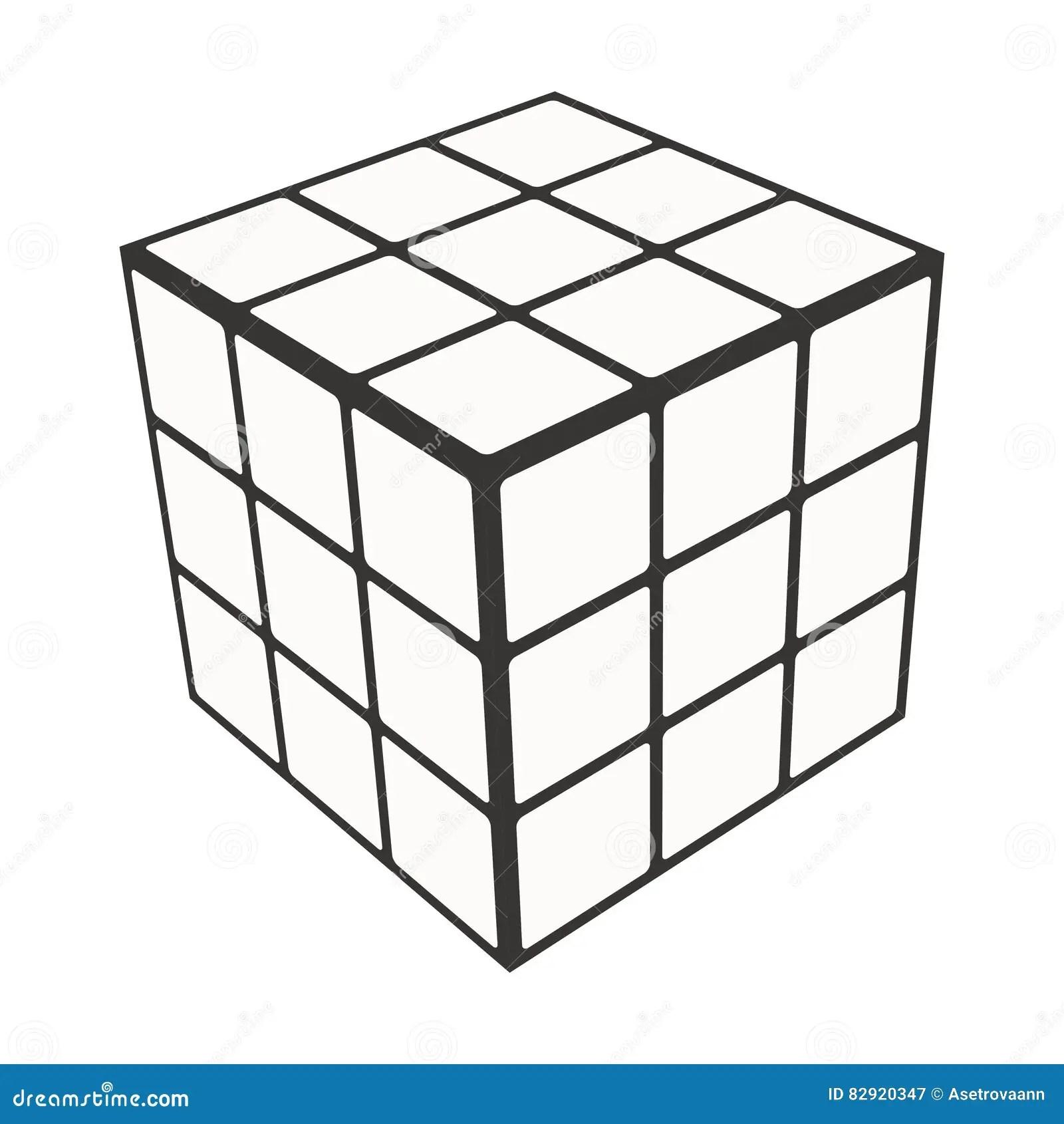 Rubik S Cube Logo Design Icon Vector Illustration