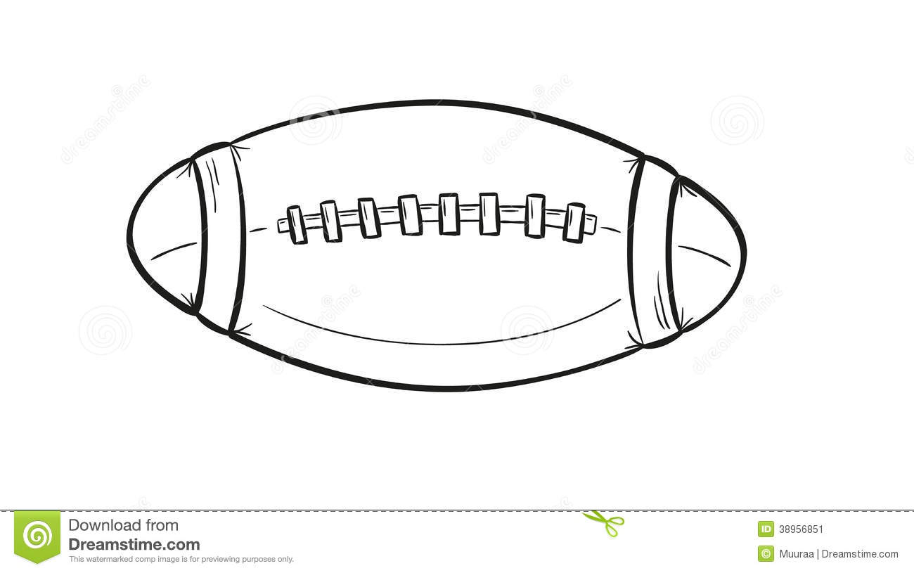 Rugby Ball Stock Illustration