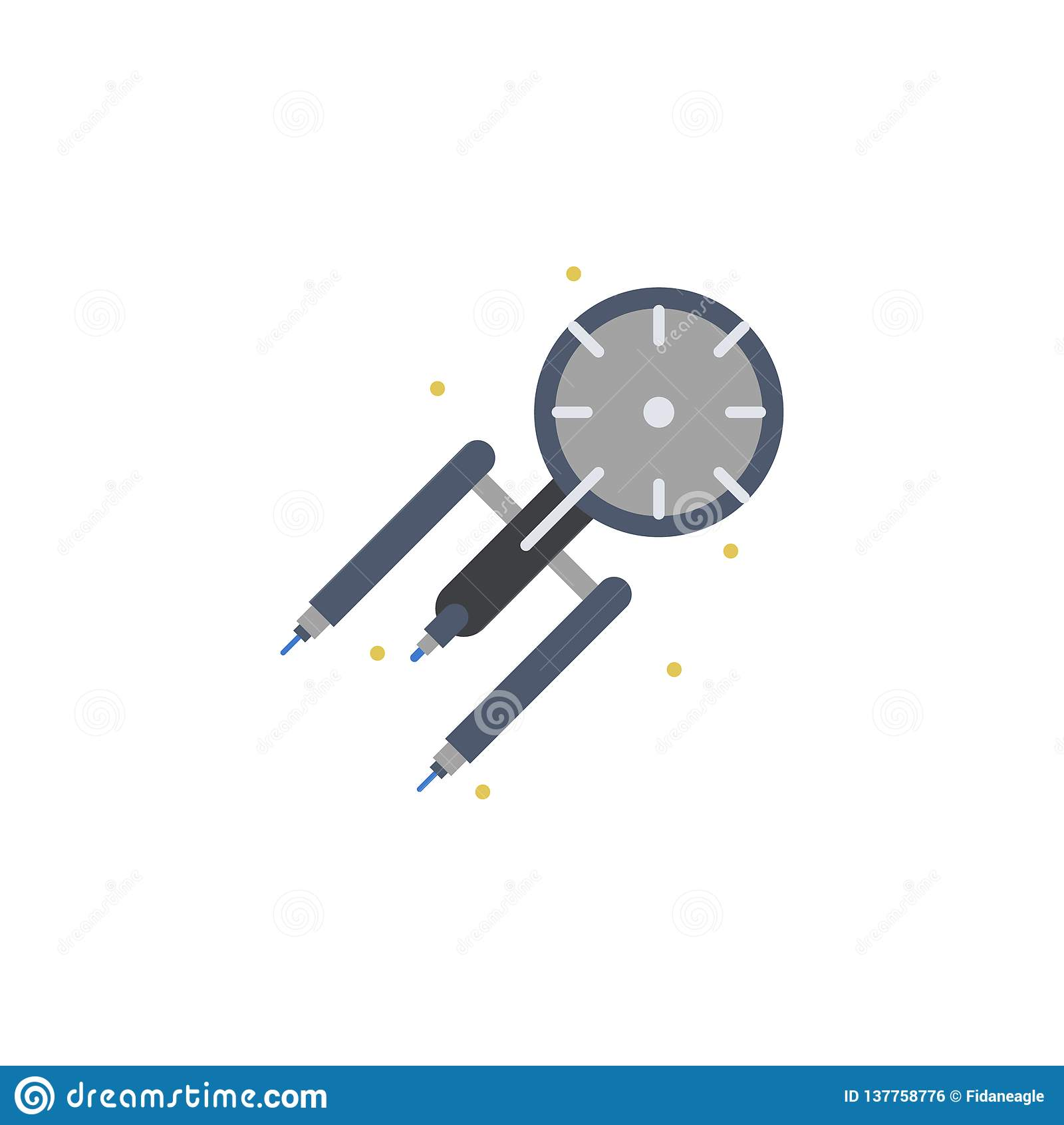 Ruimteschip Science Fiction Gekleurd Pictogram Element